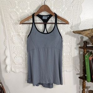 Athleta strappy grey bra gym tank